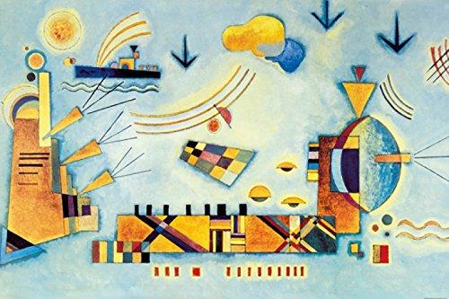 Wassily Kandinsky - Dolce Evento, 1928 Carta da Parati Adesiva (180 x 120cm)