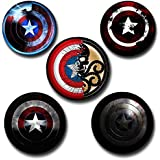 Capturing Happiness captain america vs hydra Badges Pack Of 5 Pin Badge