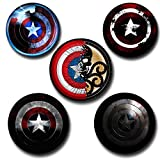 #4: Capturing Happiness captain america vs hydra Badges Pack Of 5 Pin Badge