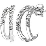 Naava 9ct White Gold Women's Diamond Earrings