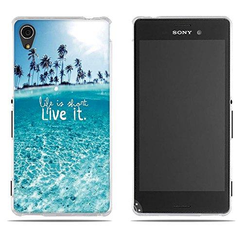 DIKAS Handyhülle Sony Xperia M4 Aqua (E2303 E2333 E2353), 3D Mode Muster Transparente Silikon Clear TPU Soft Gummi Silikon Abdeckung Telefon Fall für Sony Xperia M4 Aqua (E2303 E2333 E2353)- Pic: 05 Aqua-fall