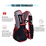 Lixada Gilet-sac à dos de sport 5 L, veste pour système d'hydratation/poche à eau d'1,5 L pour cyclisme, randonnée, sport en plein air, S/M