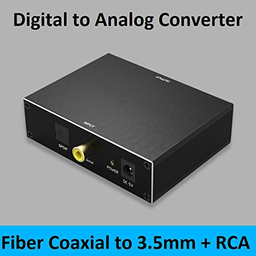 Sanobyte Ultra Series DAC Converter Digital SPDIF Coaxial Optical Toslink to Analog Stereo L/R RCA 3.5mm Jack Audio Converter Adapter for PS3 XBox HD DVD PS4 Sky HD Plasma Blu-ray Home Cinema Systems (Black Metal)  available at amazon for Rs.1999