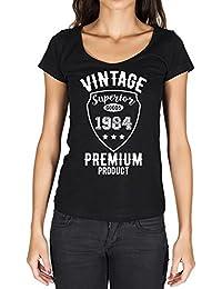 1984, Vintage Superior, t shirt femme, t-shirt avec anne, t shirt cadeau