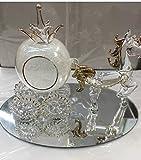 Glass Com Vetro di Cenerentola & zucca carrozza e cavallo
