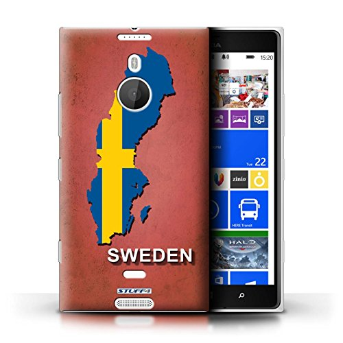Kobalt® Imprimé Etui / Coque pour Nokia Lumia 1520 / Australie conception / Série Drapeau Pays Suède/Suédois