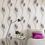 Superfresco Easy Paste the Wall Peace Plum/Cream Wallpaper