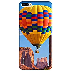 Bhishoom Designer Printed Back Case Cover for Huawei Honor 6 Plus (Nature :: Scenery :: Hot Air Balloon :: Landscape :: Mountain)