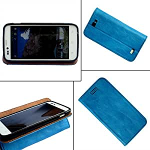 i-KitPit - PU Leather Flip Case Cover For iPhone 5C (SKY BLUE)
