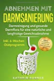 Abnehmen mit Darmsanierung: Darmreinigung und gesunde Darmflora für eine natürliche und langfristige Gewichtsabnahme   Inkl. 6-Wochen-Diätprogramm   Rezepte für einen gesunden Darm - Kathrin Burner