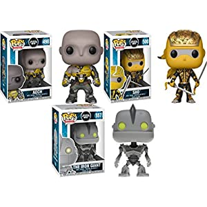 Funko POP Ready Player One Aech Shoto The Iron Giant Stylized Movie Vinyl Figure Bundle Set NEW