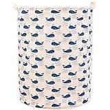 sfghouse plegable lino y algodón para ropa sucia con asas–cesto para juguetes organizador ropa titular con tapas