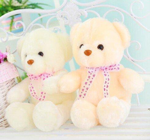 MFEIR Orsacchiotto dello LED colorato bambola Orso e i giocattoli di peluche con musica Regalo di compleanno per ragazza 35cm - 5
