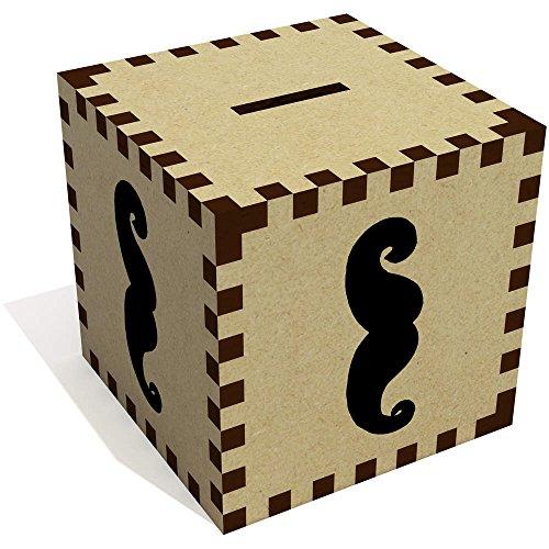 Azeeda 'Bigote' Caja de Dinero / Hucha MB00001146