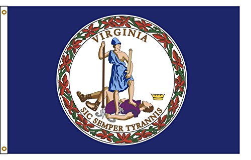 Virginia 3ftx5ft Nylon State Flagge 3x 5Made in USA 3'x5' -