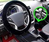 Set 3 pezzi Coprivolante peluche Coperchio freno a mano in lana sintetica Fodera per auto Copridivano per auto Coprisedili per auto Accessori interni (black for Manuale)