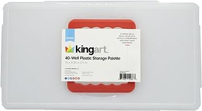 KINGART 40-Well Plastic Storage Palette