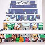 Sylar Decoración De Navidad Decoración Infantil Pegatinas De Pared Pegatina Escalera Creativa Decoración del Hogar Decoración De Fiesta