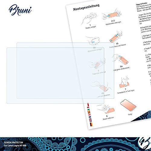 Bruni-Pellicola-Protettiva-per-Canon-Legria-HF-R88-Pellicola-Proteggi-2-x-cristallino-Protezione-Pellicola-dello-Schermo