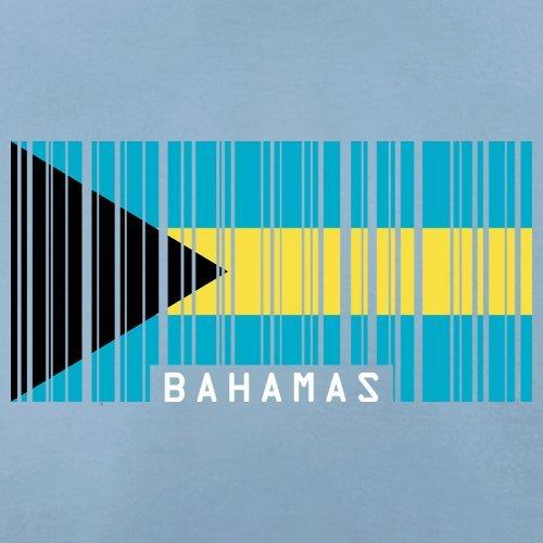 The Bahamas / Bahamas Barcode Flagge - Herren T-Shirt - 13 Farben Himmelblau