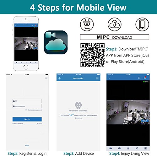 360° IP Camera Besteker Wireless Security Camera Audio Video