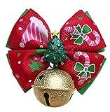 AUTULET Welpen Kragen Für Kleinen Hund Mit Glocke Weihnachtskrawatte Haustiere Hund Kette Einstellbares Bowtie Personalisierten