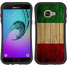 Graphic4You Italia bandera italiana madera Flexible Antichoque Antideslizante Carcasa Funda para Samsung Galaxy A5