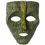 MHSXN La Máscara De Resina Verde Máscara Jim Carrey Película Disfraz Loki Fiesta De Halloween,Green-16.5*21*0.5cm
