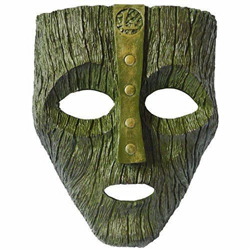 (Die Maske Grüne Harz Maske Jim Carrey Film Kostüm Loki Halloween Party,Green-16.5*21*0.5cm)
