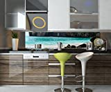 wandmotiv24 Küchenrückwand Maya Bay Nischenrückwand Spritzschutz Design M0877 240 x 50cm (B x H) - Hartschaum 3mm