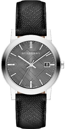 Burberry BU9030 38mm Stainless Steel Case Black Plastic Anti-Reflective Sapphire Men's Watch