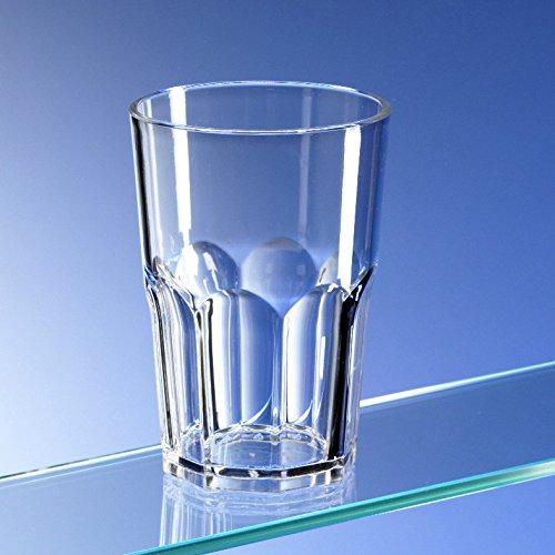 Avenue es juego de 6 octogonal reutilizable de plástico de policarbonato irrompible con forma de 15 OZ vasos. (428 ml/15 oz a rim altura 12 cm, diámetro Max 8,5 cm)