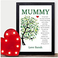 Personalised Poem Keepsake Mum Mummy Mother Birthday Gifts Presents Nan Nanny - PERSONALISED with ANY NAME and ANY RECIPIENT - Black or White Framed A5, A4, A3 Prints or 18mm Wooden Blocks