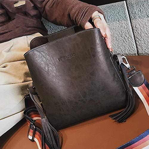 Pamabag Umhängetasche Damen,Vintage Dunkel-Braunes Leder Cross-Body Tasche Classic Minimalistisches Design Grosse Kapazität Hobos Handtaschen Mode Wild Breite Schultergurt Schulter Kuriertasche