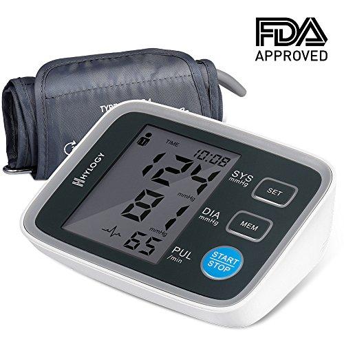HYLOGY Blutdruckmessgerät, präzises medizinisches Blutdruckmessgerät Oberarm mit extra großem LCD-Display, breite Manschette (22cm-32cm), 2 Benutzermodus (180 Speicher), Arrhythmie-Erkennungsfunktion