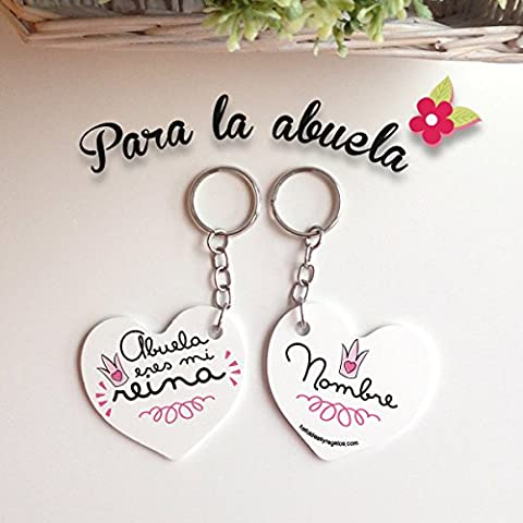 LLAVERO CORAZON ABUELAS TODOIDEAS