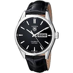 TAG Heuer eysse-reloj de pulsera analógico rhöna cuero WAR201A, FC6266