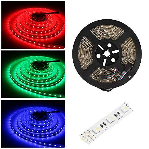 24V led strip RGBWW LED Streifen LED Band 5050 SMD RGB+Warmweiss 4 in1, 300 LEDs Lichterkette Lichtleiste Deko Lichter Treppenlicht, 60LEDs/M, 5M -