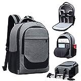 Mfun-BAG Cámara Sling Bolsa compacta Ajustable Relleno Engranaje Desgaste SLR cámara Mochila Lona Hombro cámara Bolsa SLR Mochila