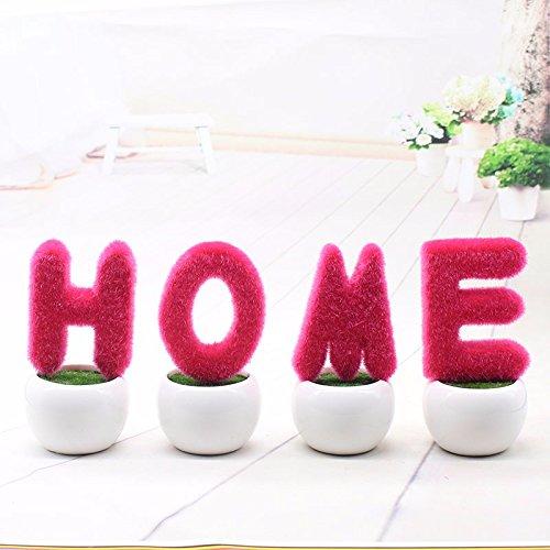 GBHNJ Faux Fleurs Cadeau Table Basse Gala Simulation Plantes en Pot Decoration Plant Rose Blanc Rouge