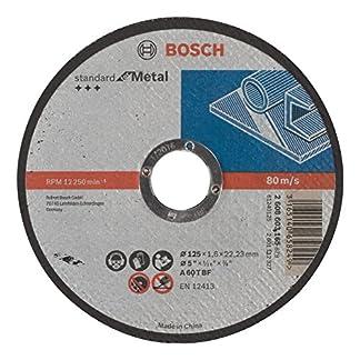 Bosch 2 608 603 165 – Disco de corte recto Standard for Metal – A 60 T BF, 125 mm, 22,23 mm, 1,6 mm (pack de 1)