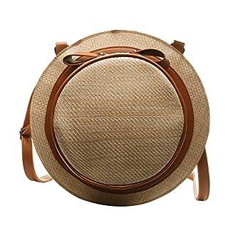 Mitlfuny handbemalte Ledertasche, Schultertasche, Geschenk, Handgefertigte Tasche,Mode damen hut geflochtenen bogen strand umhängetasche messenger bag rucksack