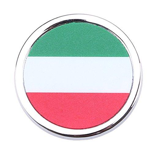 Auto Aufkleber POSSBAY Italien Flagge Rund Autoaufkleber Sticker Dekor für Motorhauben Fenster Heckscheibe Tankdeckel Heckklappe