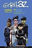 Gorillaz HUMANZ Tour 2017 XL Poster, A1, ca. 58 x 87 cm, Rock, Nu Metal