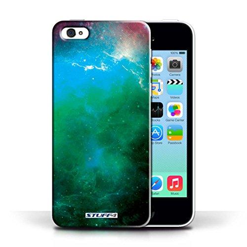 Kobalt® Imprimé Etui / Coque pour Apple iPhone 5C / Planète Orange conception / Série Cosmos Nébuleuse Verte