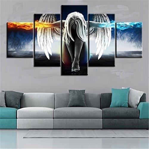 Floralby 5x/Set Engel Flügel Art Wand Bilder Schlafzimmer Wohnzimmer Dekoration Geschenk Large Angel Wing