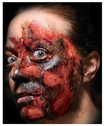 Fancy Me Erwachsene Herren Damen Realistische Wunden Narben Gore Blood Special FX Halloween Make Up Tattoo Transfers, One Size, Multiple Burns (Make-up Halloween-special Fx)