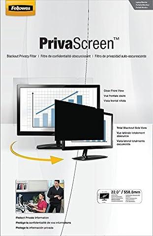 Fellowes PrivaScreen Blickschutzfilter (für Laptop und Monitor 55,9 cm (22 Zoll) Widescreen 16:10)