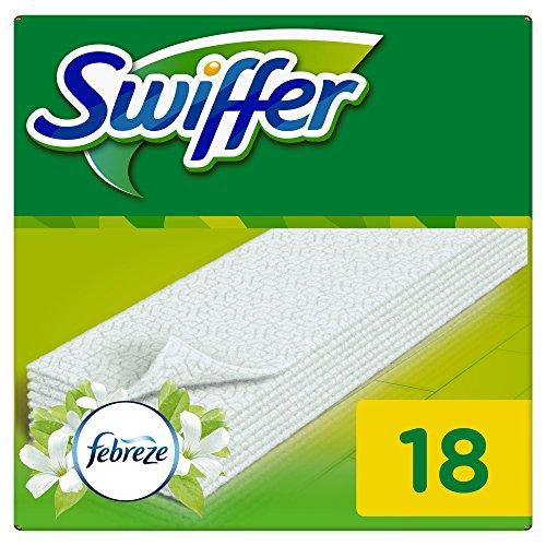 Swiffer Trockene Bodentücher Nachfüllpackung (mit Febreze Duft) 2er Pack (2 x 18 Tücher)