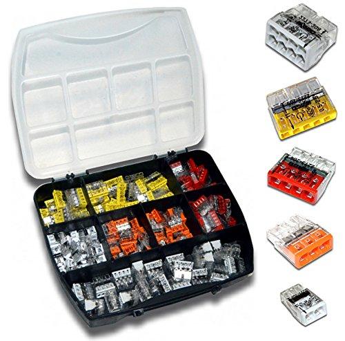 Preisvergleich Produktbild WAGO Klemme 2273 Serie Set Sortiment (160 Stück) inkl. Sortimentskasten 35x 2273-202 | 35x 2273-203 | 35x 2273-204 | 35x 2273-205 | 20x 2273-208